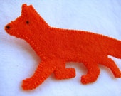 Little Red Fox Brooch FREE SHIPPING