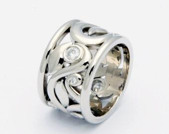 White gold Vine ring