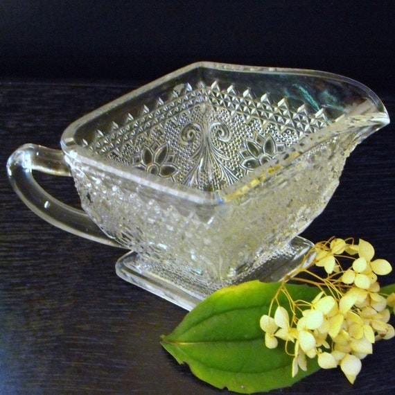 Items similar to Indiana Glass Sandwich Pattern ... Clear ...