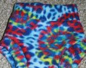 Small Blue Tie-Dyed Fleece Soaker