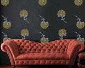 Flower Vinyl Wall Decals, Vintage Flower Blooms - 16 graphics, Wallpaper, Vinyl Wall Graphics, Stickers, Item 10002