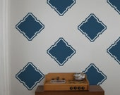 Modern Square Wall Decals- 24 graphics, Wallpaper, Stickers, Moroccan, Modern, item 10028