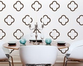 Moroccan Quatrefoil Vinyl Wall Decals, Moroccan Bubbles- 30 Graphics, Vinyl Wall Graphics, Sticker, Wallpaper- item 10027