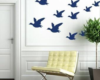 Vinyl Wall Decals, Flock of Birds - 13 Graphics, Wallpaper, Stickers, item 10020