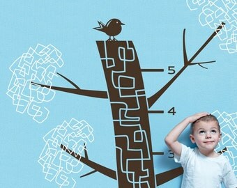Children's Growth Chart Vinyl Wall Decal-  Big Tree Graphic, Vinyl Wall Graphic, Playroom, Sticker, item 30015