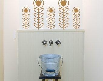 Vinyl Wall Decals, Flower Stalks - 5  Graphics, Wallpaper, Stickers, item 10015