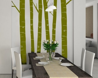 Tall Aspen Tree Decals - Set of 6 Floor To Ceiling- item 30030 Vinyl Wall Graphic, Sticker, Forrest
