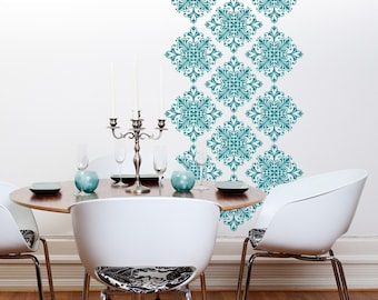 Vinyl Wall Decals Scroll Damask Wall Pattern - 18 graphics- 10026, Vinyl Wall Graphics, Wallpaper, Sticker