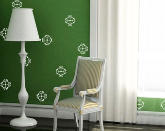 Floral Vinyl Wall Decals- 50 Small Flower Rosettes style 1 Graphics, Wallpaper, Stickers, item10030