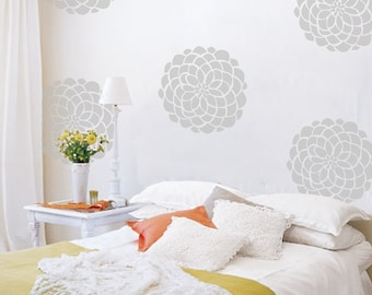 Flower Vinyl Wall Decals- 10 Flower Bloom Wall Graphics, Wallpaper, Stickers, Big Flower Decals, item 10010