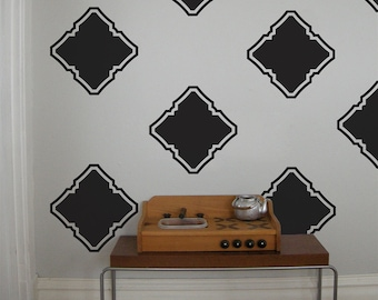 Modern Moroccan Square Graphics, Vinyl Wall Decal- 24 graphics, Wallpaper, Stickers, item 10028
