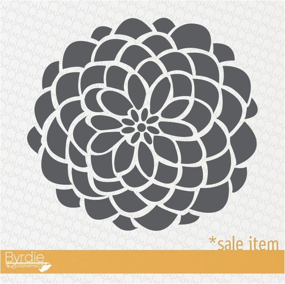 Vinyl Wall Graphic SALE Item- 9in. STORM GREY Bloom Decal, Sticker