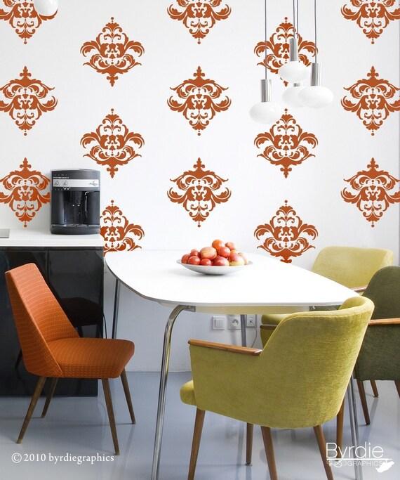 Classic Damask - 16 Graphics, Vinyl Wall Decal, Vinyl Wall Graphics, Wallpaper, Stickers, item 10032