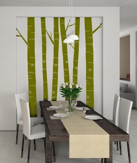 Tall aspen tree decals set of 6 item 30030 vinyl wall for Aspen tree wall mural