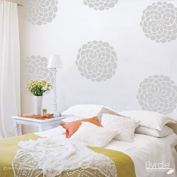 Vinyl Wall Decals- 10 Flower Bloom Graphics, Wallpaper, Stickers, item 10010