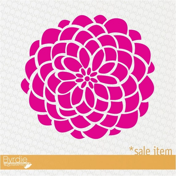 SALE- 13in. HOT PINK Bloom Vinyl Wall Graphic, wall decal art
