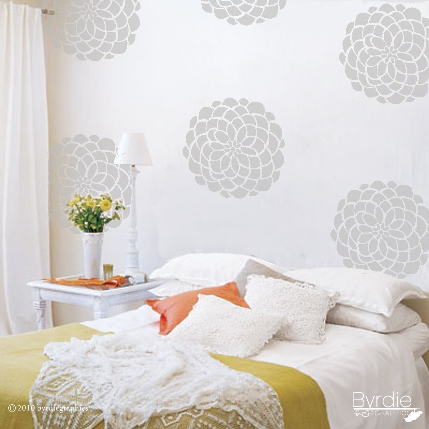 Flower Vinyl Wall Decals 10 Flower Bloom Wall Graphics