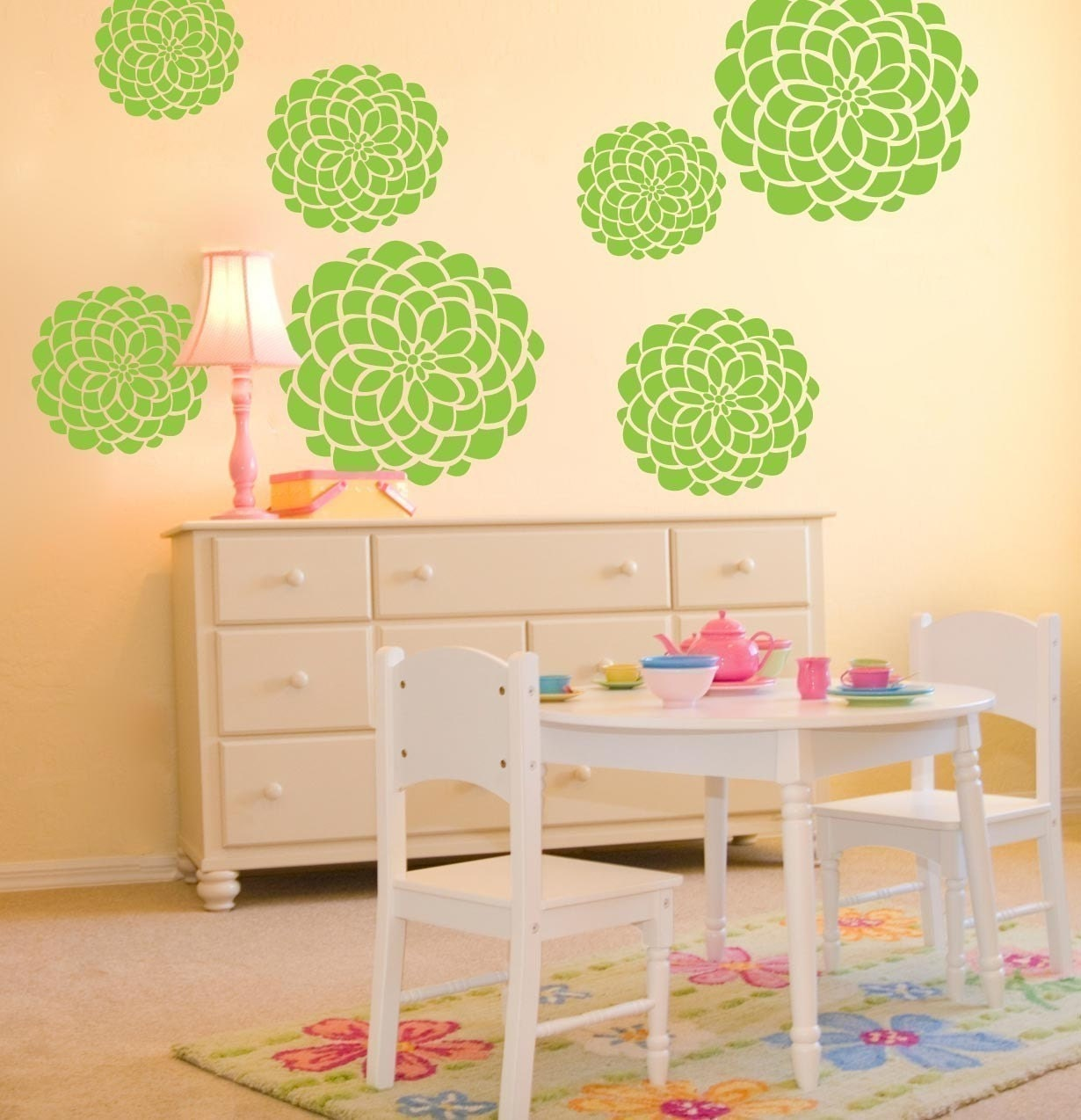Vinyl wall decals 7 large flower bloom graphics variety of zoom amipublicfo Gallery