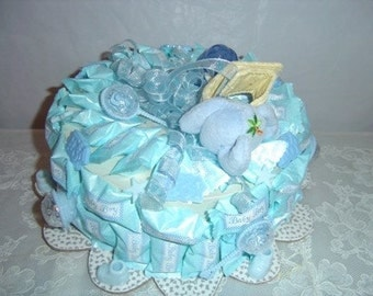 Baby Boy Mint Cake, Table Centerpiece, Shower Table Arrangement, Baby Gift