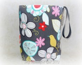 Contemporary Floral ReUsable Trashbag - Perfect in the Car, Travel, EcoFriendly - FINAL bag in this print