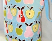 Apples and Pears ReUsable trash can, eco-friendly, hand made