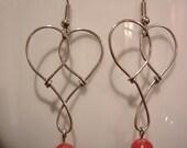 Art Deco Heart Earrings