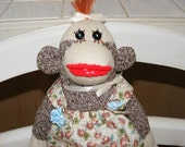 Baby sock monkey - Edith Ann