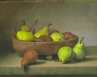 The Wooden Bowl of Pears