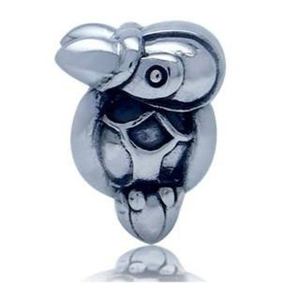 SALE Sterling Silver Parrot Bead