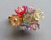 CLOSING SALE - Floral Bouquet Swarovski Crystal  Brooch
