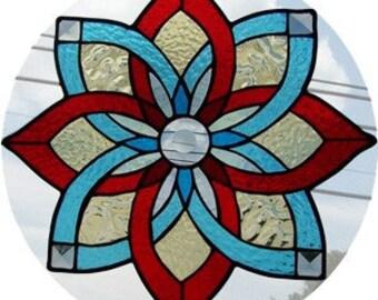 Pinwheel (Aqua and Red)