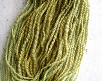 Naturally Dyed Handspun Yarn - Green Tea