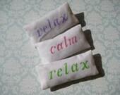 Relax mini pillow sachet -- lavender filled