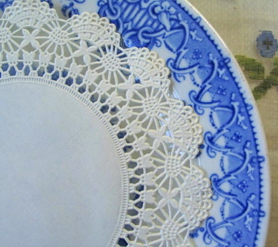 2 Ivory Lace Placemats Doilies Dresser Scarves By