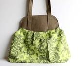 50% Off Spring Sale! Garden Green Show Off Bag. Large Purse. Oversize Handbag. Women Fashion. For Her. Winter Handbag.