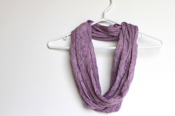 Infinity Scarf. Bellflower Purple Cowl Scarf.  Lavender. For Her. Women Fashion. Fashion Accessory. Preppy.  Soft Purple Shimmer. Textured.