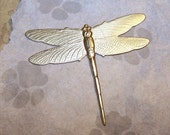 Raw brass large dragonfly (1)  DF002 raw