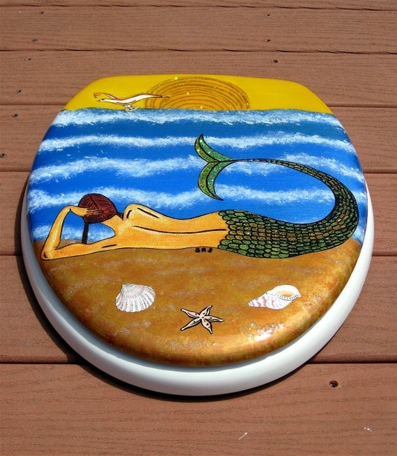 Reserved For Shireen7 Mermaid Toilet Seat Elongated