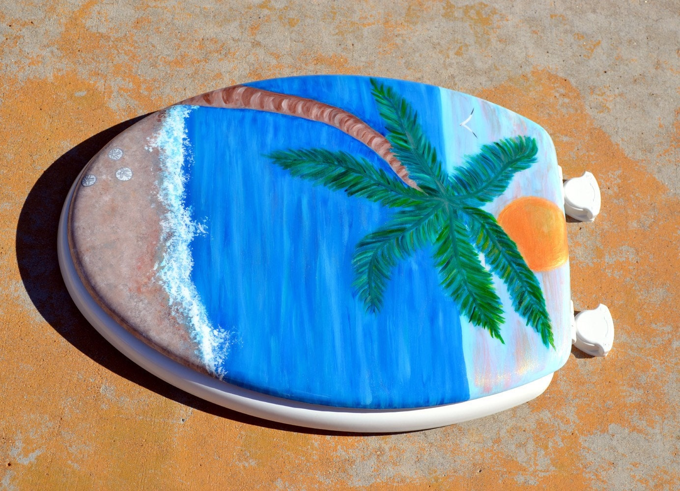 Palm Tree Elongated Toilet Seat