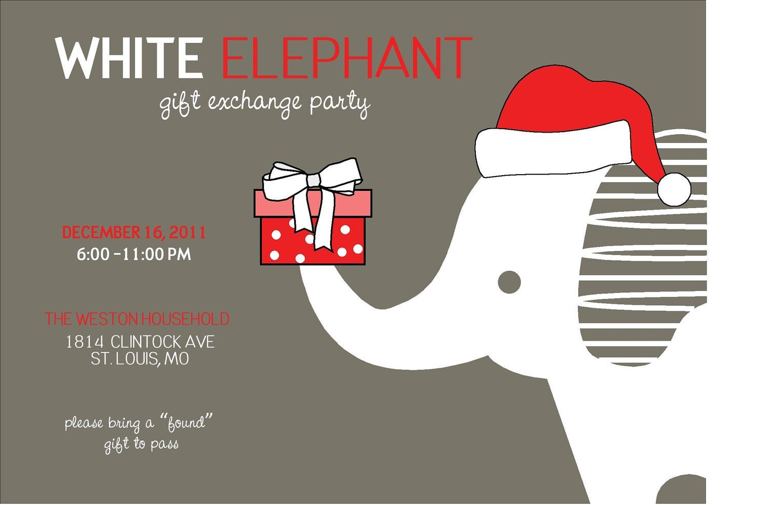 News and entertainment: white elephant gift (Jan 04 2013 ... White Elephant Christmas