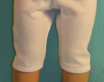 American Made 18 inch Doll White Capri Legging