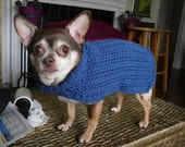 HE-dog Hand Made Sweater, Blue