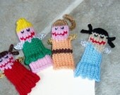 Fairy Friends Finger Puppet Set (Includes 5 different fairies.)  We can create custom listings of individual puppets or puppet sets.