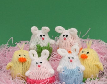 Easter Egglets (Set of 6 - 2 Boy Bunnies, 2 Girl Bunnies, and 2 Chicks.)  Want a different grouping - just contact us.