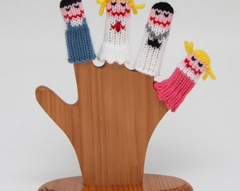 Hospital Finger Puppet Set  (Includes Doctor, Nurse, Boy, and Girl.)  We can create custom orders of individual puppets or puppet sets.