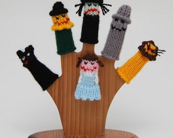 Wizard of Oz Finger Puppet Set (Includes Dorothy, Toto, Scarecrow, Wicked Witch, Tinman, and Cowardly Lion.)  We can create custom listings.