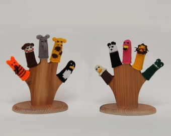 Deluxe Zoo Animals Finger Puppet Set (Includes Tiger, Monkey, Elephant, Giraffe, Penguin, Eagle, Panda, Flamingo, Lion, and Alligator.)