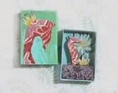 Matchbox Art - Seahorse garden
