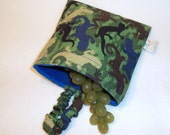 Reusable Sandwich Bag - Camo Lizards