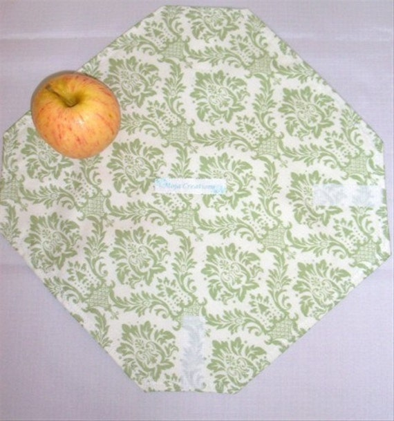 Reusable, Eco-friendly Sandwich Wrap (Sage Damask) - FREE SHIPPING on All Additional Items